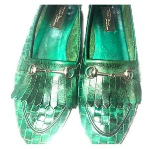 Shoes - Sesto Meucci Nicole Woven Leather Loafer, Green